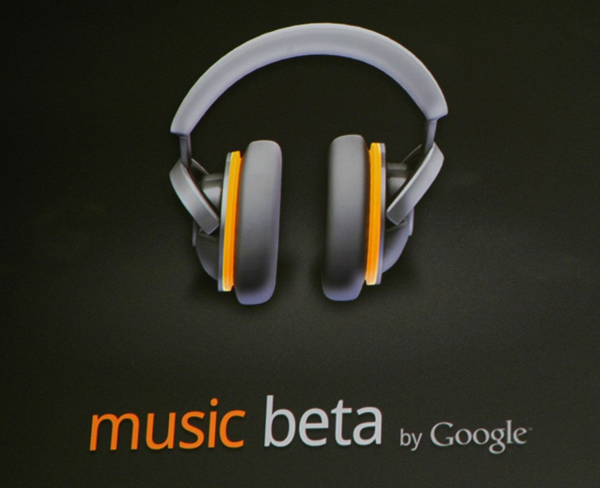 The cloud-based music player 'Music Beta' is unveiled during the keynote address at the Google IO Developers Conference in the Moscone Center in San Francisco