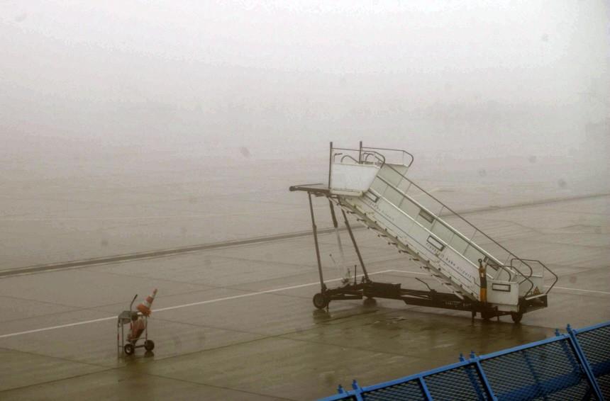 Flugausfälle am Flughafen Frankfurt/Hahn