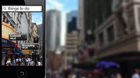 screenshot junaio.com, augmented reality browser