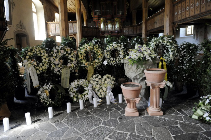 Beerdigung Gunter Sachs