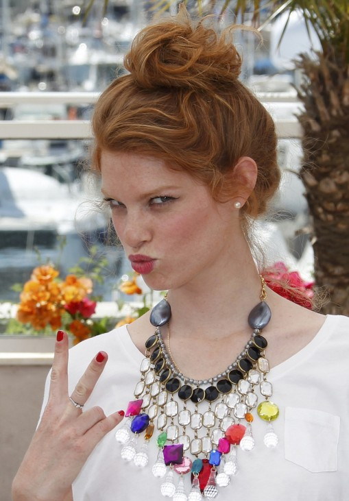 Cast member Scharf poses during a photocall for the film 'Hearat Shulayim' in competition at the 64th Cannes Film Festival