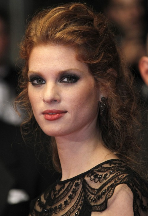Cast member Scharf arrives on the red carpet for the screening of the film 'Hearat Shulayim' at the 64th Cannes Film Festival