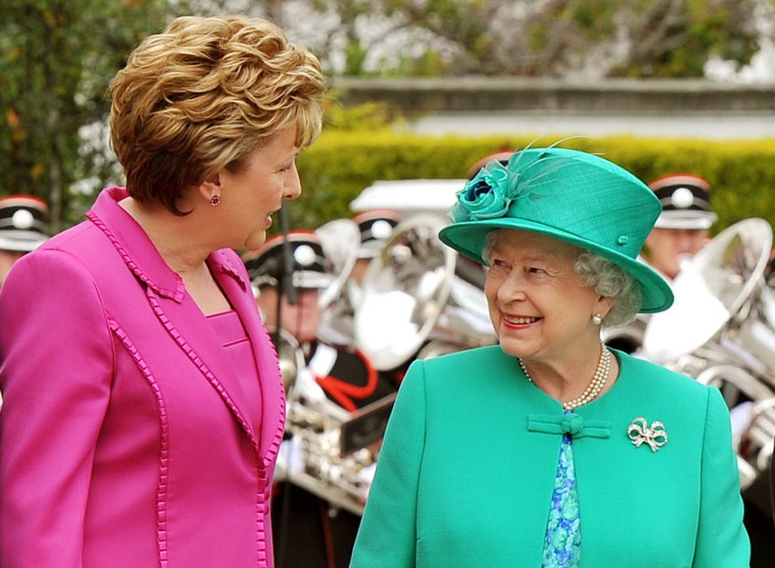 Queen Elizabeth II on visit to Ireland