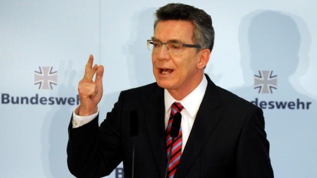 De Maizière zur Bundeswehrreform