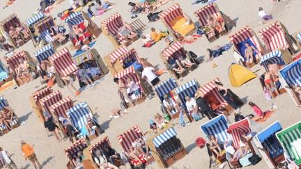 Sonnenbaden an der Ostsee