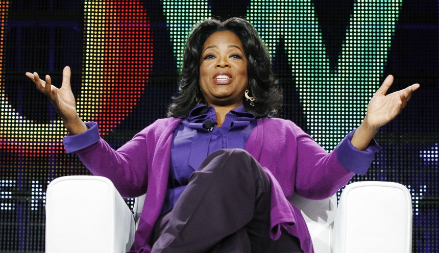 File picture of Oprah Winfrey, who dropped one place to No.2 on 2011's Forbes celebrity power list