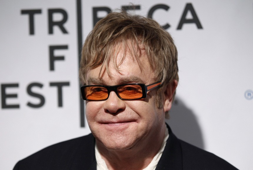 File picture shows Elton John attending the opening night premiere of 'The Union' during annual Tribeca Film Festival in New York