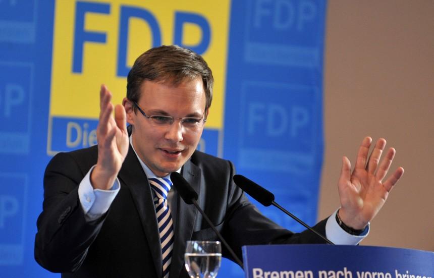 FDP-Wahlkampfkundgebung in Bremen