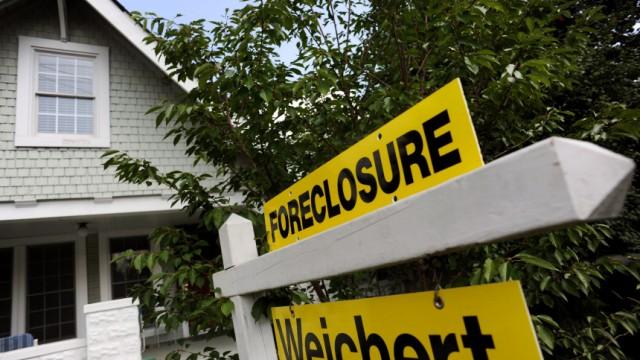 US-Immobilienkrise - Zwangsversteigerung eines Hauses