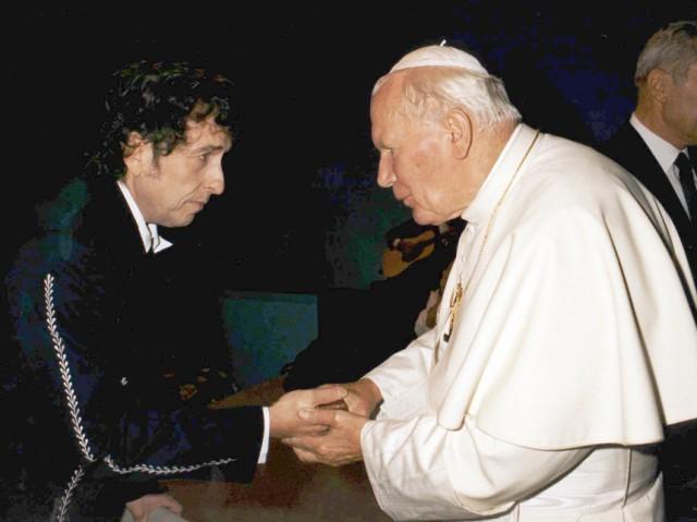 Bob Dylan und Papst Johannes Paul II., 1997