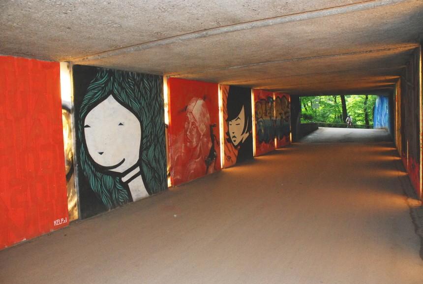 Graffiti Unterführung Friedensengel