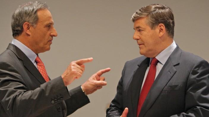 Josef Ackermann und Clemens Börsig