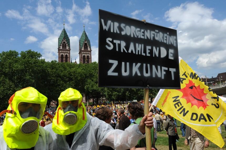 Demo gegen Atomkraft - Freiburg