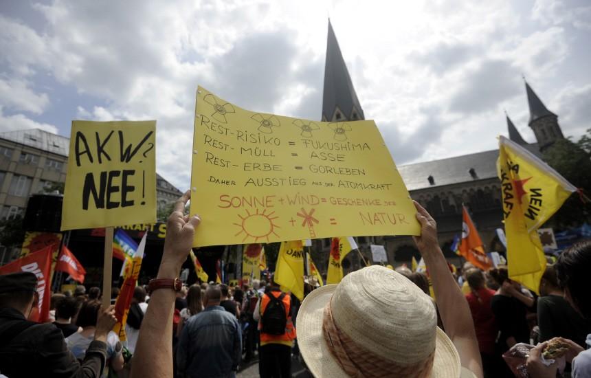 Demonstration gegen Atomkraft