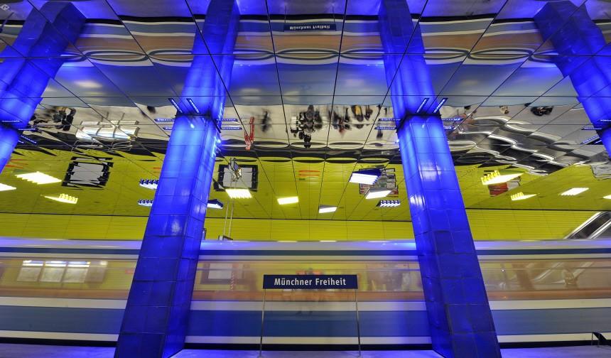 Renovierter U-Bahnhof Muenchner Freiheit