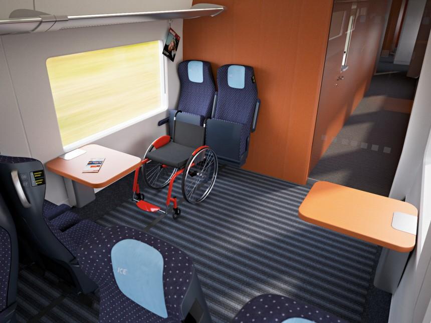 Behindertengerechter Platz im ICx