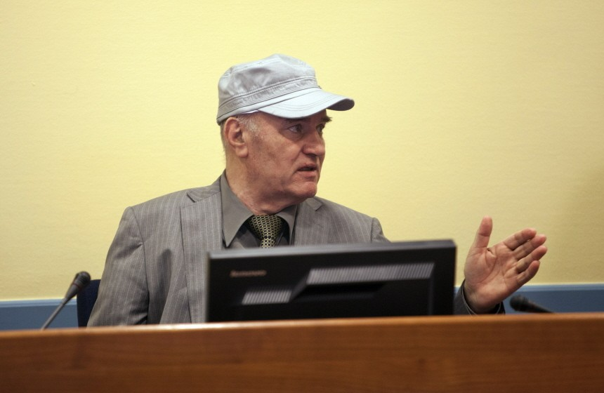 Former Bosnian Serb Military Leader Ratko Mladic Appears At The Hague Accused Of War Crimes