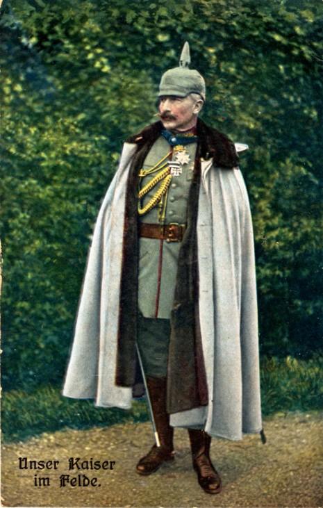Kaiser Wilhelm II. im Feld Erster Weltkrieg Pickelhaube