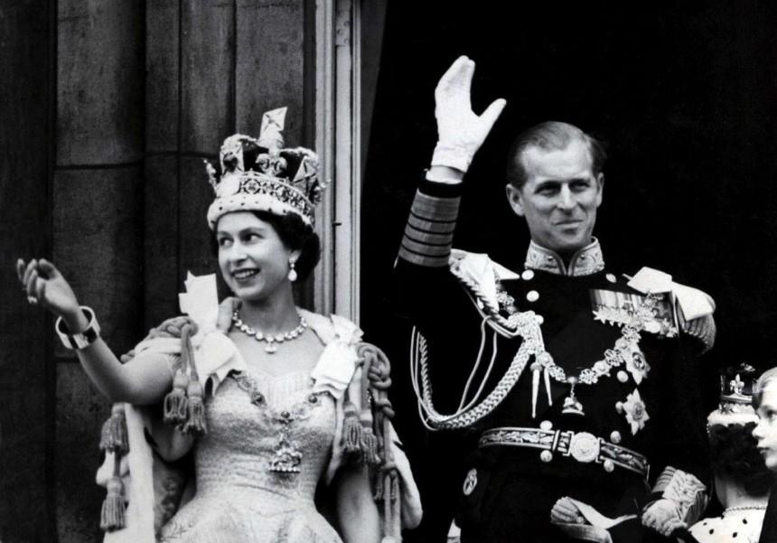 Britische Königin Elizabeth und ihr Mann, der Herzog von Edinburgh, 1953