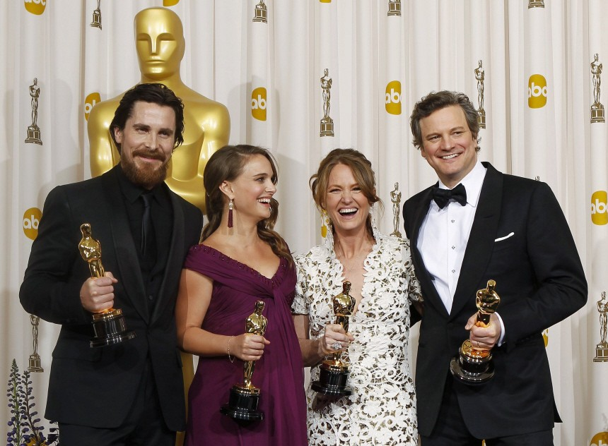 Oscar winners pose backstage at the 83rd Academy Awards in Hollywood