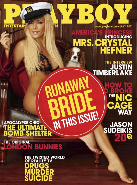 Crystal Harris appears on the cover of the July 2011 Playboy issue