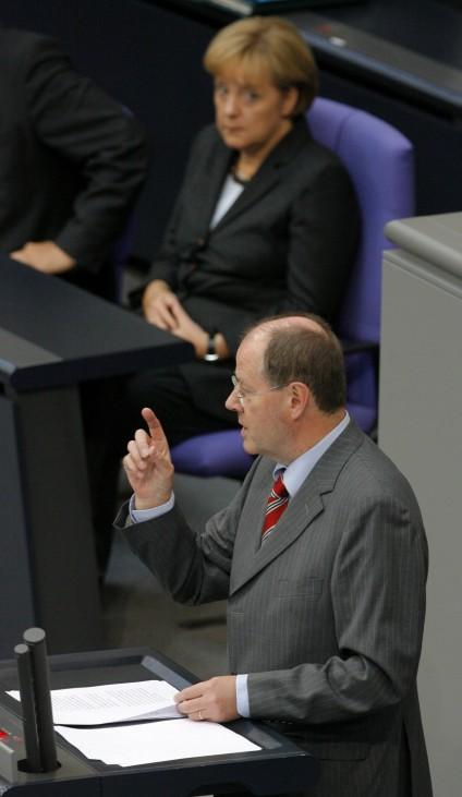 Bundestag - Regierungserklärung Peer Steinbrück