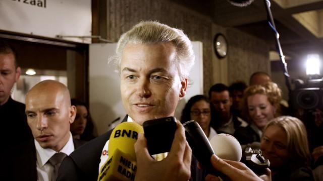 Freigesprochen: Islamgegner Geert Wilders, hier nach der Urteilsverkündung