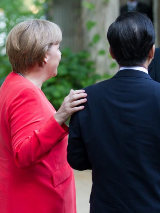 Merkel trifft Wen Jiabao