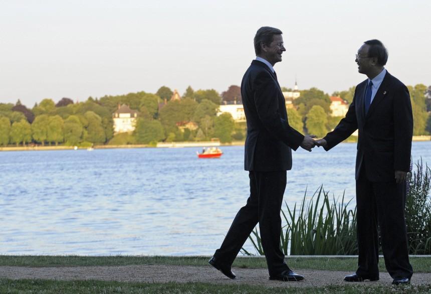 Chinesischer Minsterpraesident besucht Deutschland Westerwelle