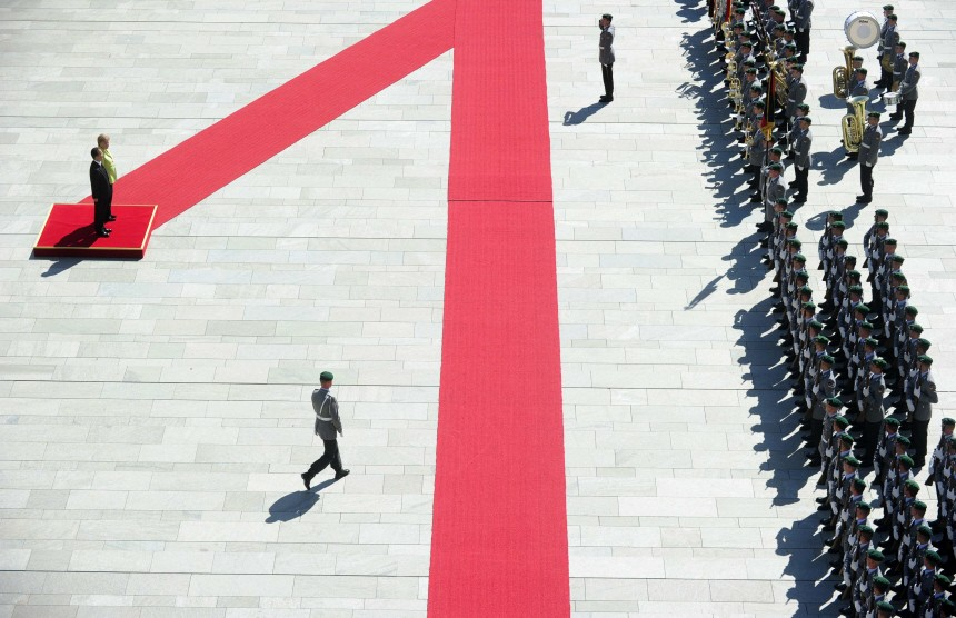 Berlin Merkel Wen Jiabao China Kanzleramt