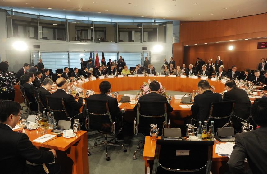 Berlin Bundeskanzlerin Angela Merkel Ministerpräsident Wen Jiabao  China