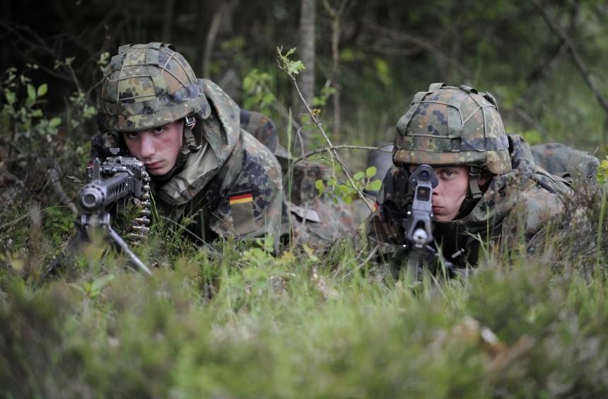 Freiwillige Bundeswehr Grundausbildung Soldaten