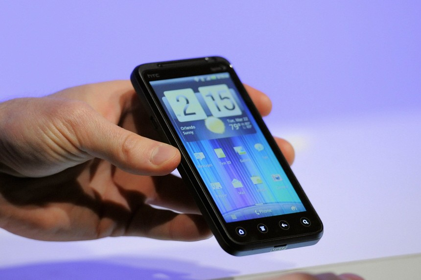 Sprint's new HTC Evo 3D phone is unveiled at the International CTIA wireless industry conference, at the Orange County Convention Center in Orlando
