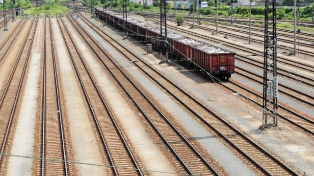 Gütertransport auf der Schiene zurückgegangen
