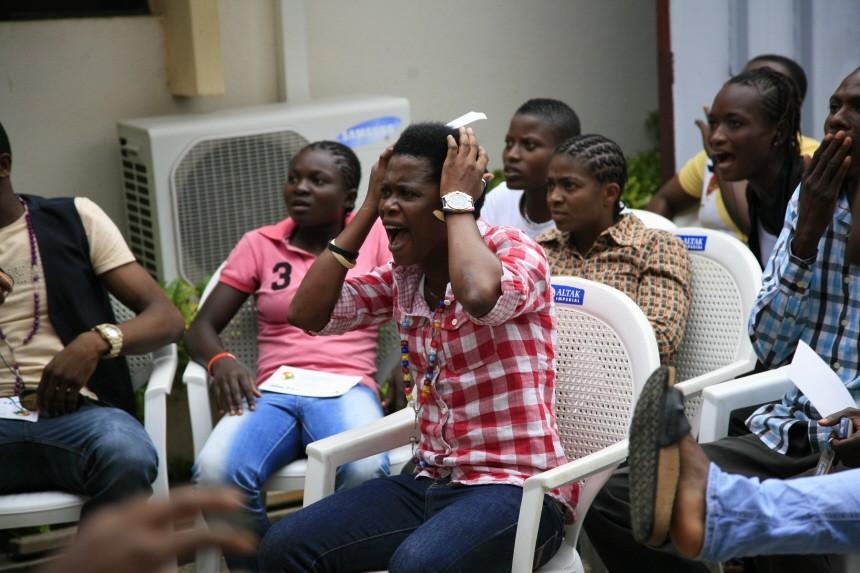 Frauen WM Public Viewing Nigeria