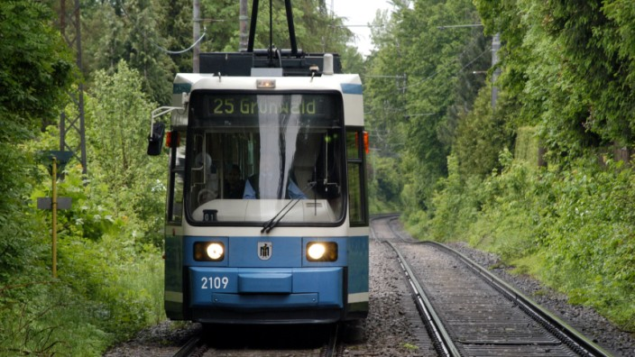 Straßenbahn nach Grünwald