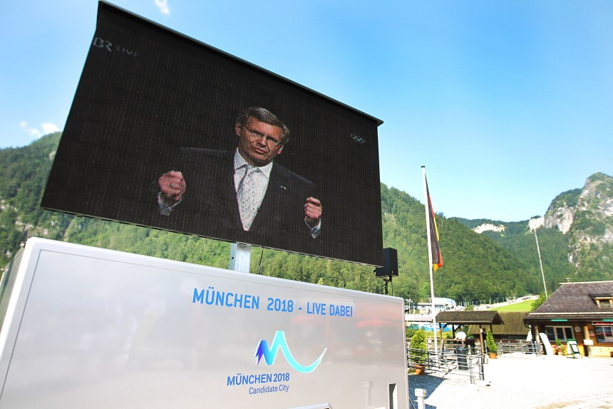 Public Viewing For The IOC Decision On 2018 Olympic Winter Games Hosts