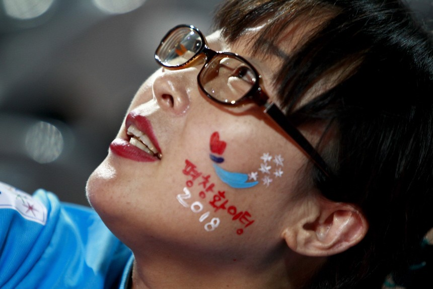 Residents of Pyeongchang wait during the bid to host 2018 Winter