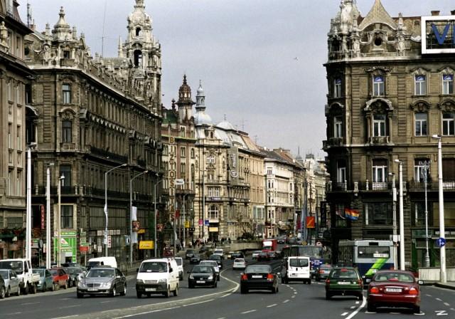 Verkehr in Budapest, 2005