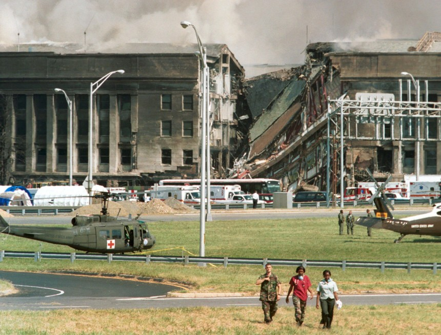 Pentagon nach dem Terroranschlag am 11.September, 2001