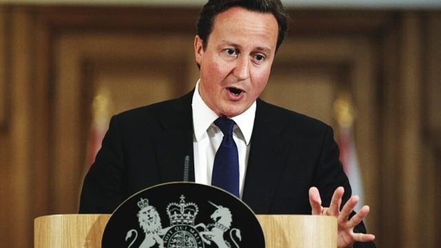 Prime Minster David Cameron Holds Press Conference