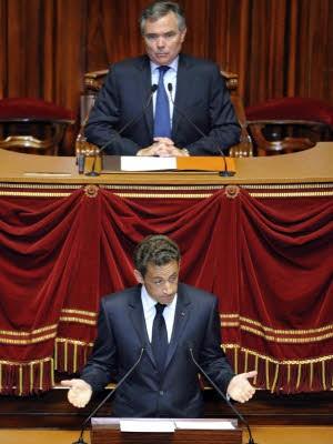 Der kleine Mann im großen Schloss, Nicolas Sarkozy in Versailles; Reuters