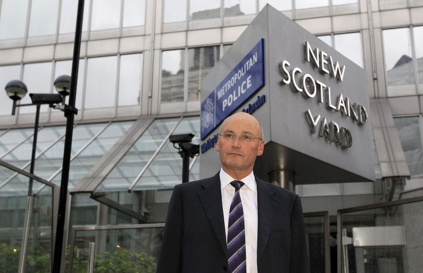 Britain's senior police chief Stephenson, London's police commissioner leaves New Scotland Yard after resigning in London
