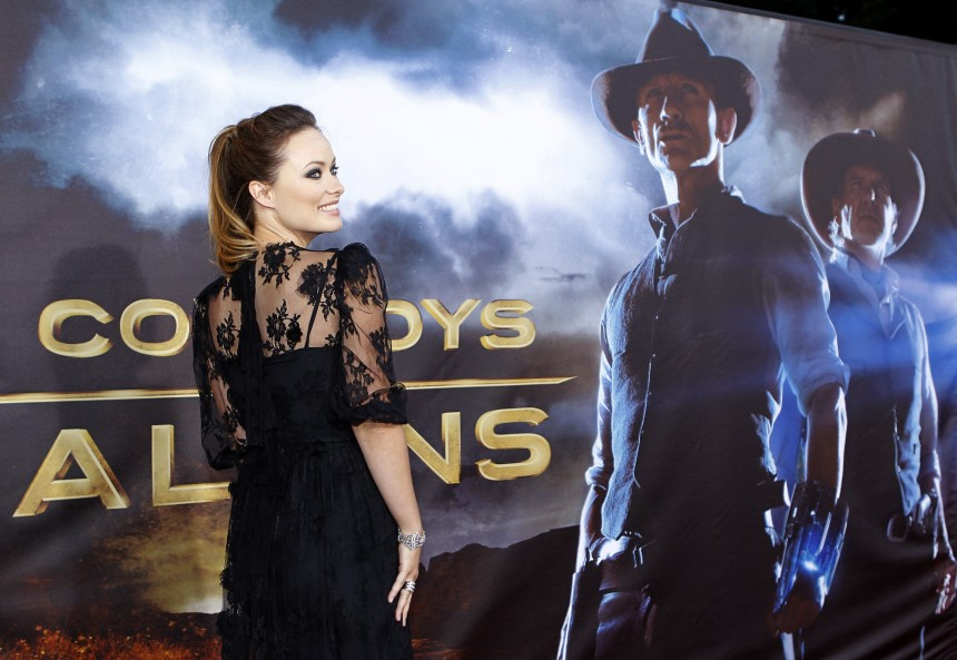 Actress Wilde arrives for the world premiere of Universal Pictures motion picture 'Cowboys & Aliens' in California