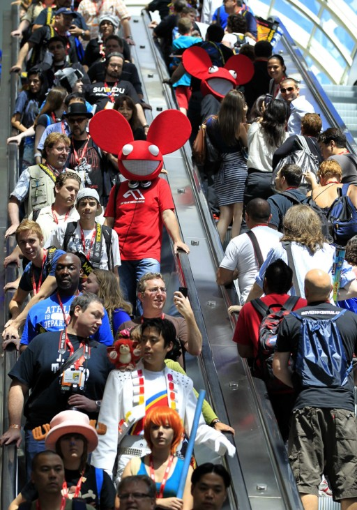 Large crowds attend the pop culture event Comic Con in San Diego
