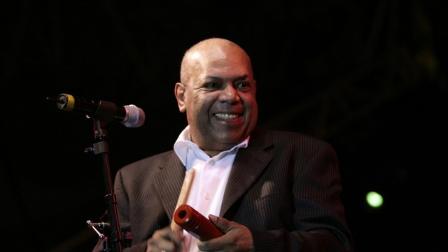 File photo of Colombian musician Arroyo during a salsa concert in Mexico city
