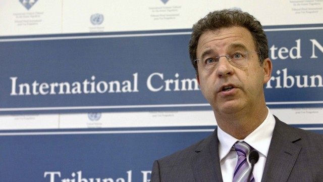 Prosecutor Serge Brammertz attends a news conference at the International Criminal Tribunal for the former Yugoslavia in the Hague
