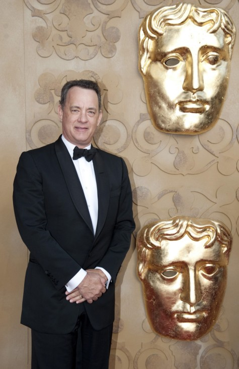 Hanks poses at the BAFTA Brits to Watch event in Los Angeles