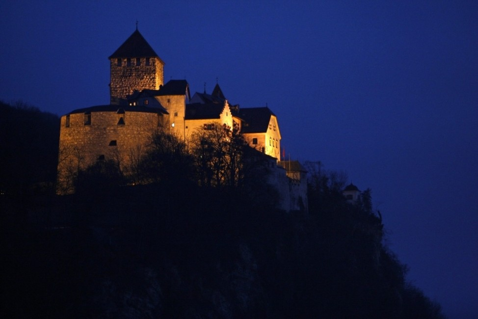 A general view shows Liechtenstein's castle in Vaduz