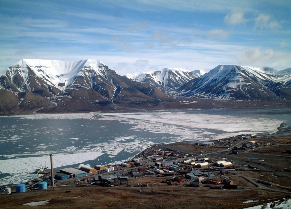 Longyearbyen in Norwegen, 2004